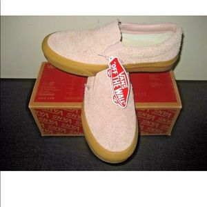 Vans Classic Slip on Womens Fuzzy Suede Sepia Rose